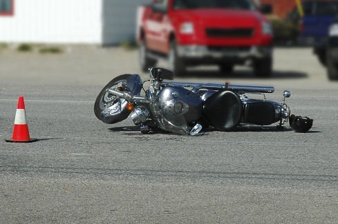 Motorcycle Accident Scene