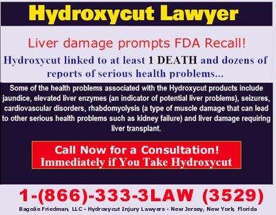 Hydroxycut Lawyer New Jersey, New York, Florida