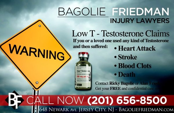 Testosterone Lawsuits – Bagolie Friedman Personal Injury Attorneys