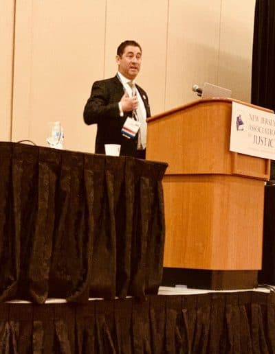 "Photo 1 - Alan Friedman, senior partner at Bagolie Friedman Injury Lawyers, lectures over 100 lawyers on the ""Admissibility of Expert Evidence in a Workers' Compensation Trial."" at the New Jersey Association for Justice annual convention in Atlantic City on May 6, 2019"