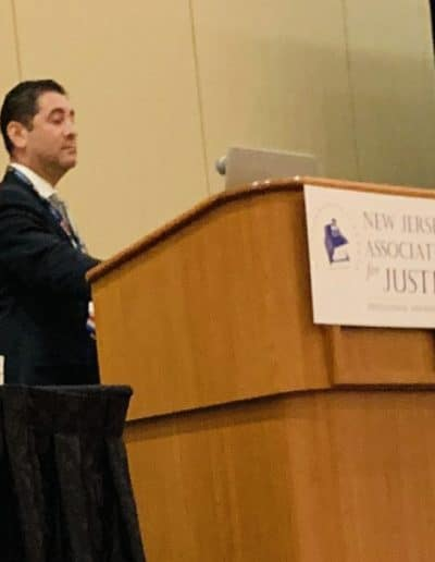 "Photo 2 - Alan Friedman, senior partner at Bagolie Friedman Injury Lawyers, lectures over 100 lawyers on the ""Admissibility of Expert Evidence in a Workers' Compensation Trial."" at the New Jersey Association for Justice annual convention in Atlantic City on May 6, 2019"