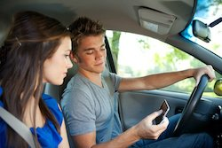 Driving: Reading a Text Message While Driving